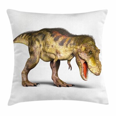 Dinosaur Prehistoric Animal Square Cushion Pillow Cover Size: 20 x 20