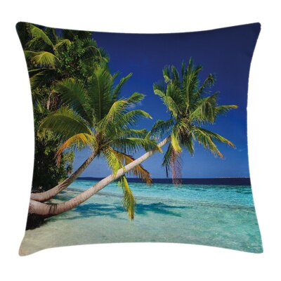 Exotic Maldives Beach Cushion Pillow Cover Size: 16 x 16