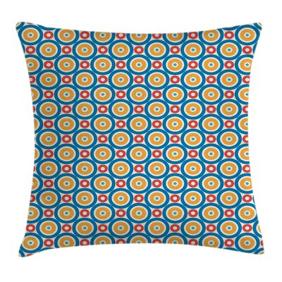 Big Small Circles and Dots Cushion Pillow Cover Size: 16 x 16