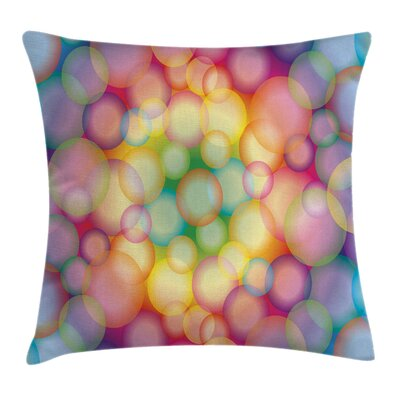 Modern Hazy Balls Circular Hoop Square Pillow Cover Size: 16 x 16