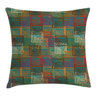 Modern Removable Geometric Square Pillow Cover Size: 16 x 16
