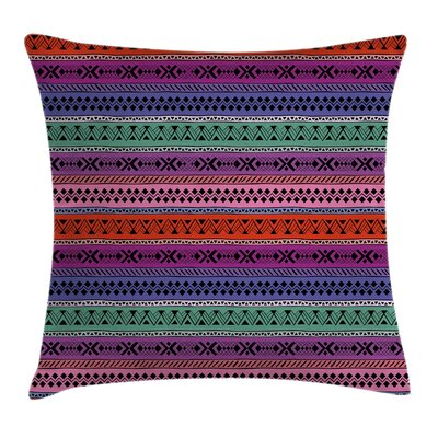 Geometric Tribalful Square Pillow Cover Size: 24 x 24