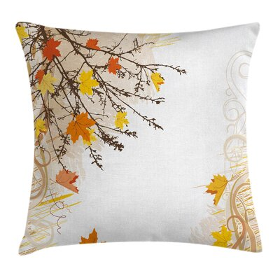 Maple Leaves in Autumn Square Pillow Cover Size: 16 x 16