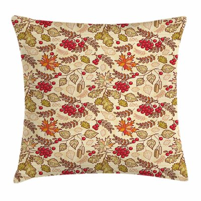 Fall Themed Mixed Pattern Square Pillow Cover Size: 18 x 18