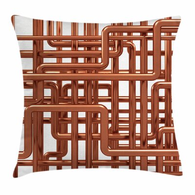 Entangled Pipes Square Pillow Cover Size: 20 x 20