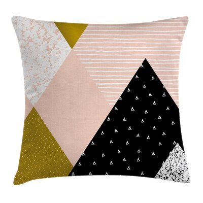 Geometric Pillow Cover with Zipper Size: 16 x 16