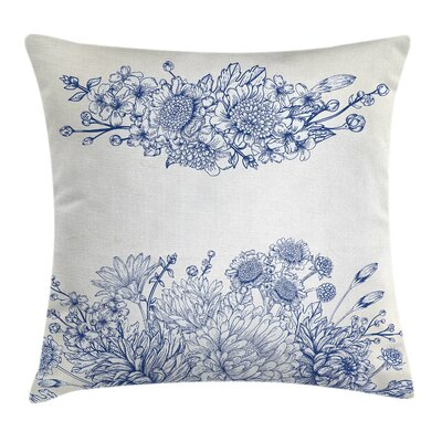Bouquet Carnations Square Pillow Cover Size: 16 x 16