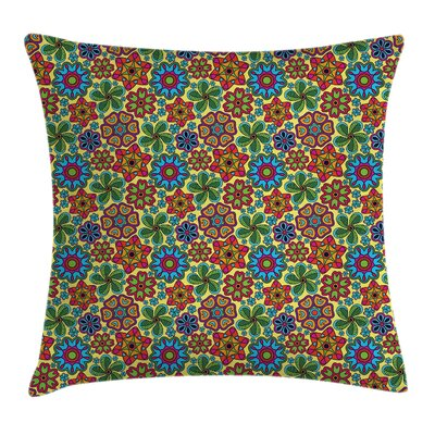 Flower Pillow Cover Size: 16 x 16