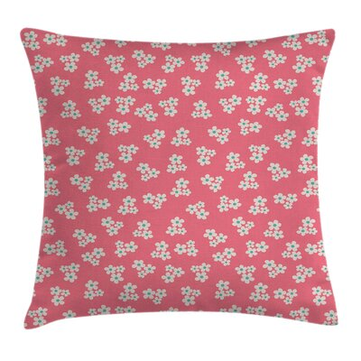 Daisies Girls Room Cushion Pillow Cover Size: 18 x 18