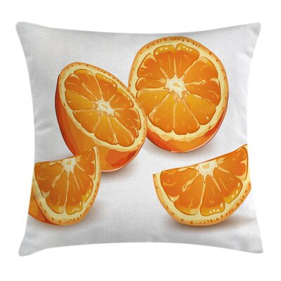 Citrus Art Cushion Pillow Cover Size: 16 x 16