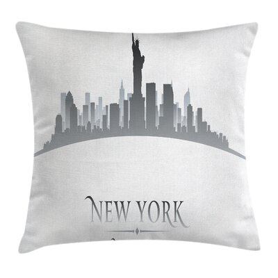 New York City Statues Cushion Pillow Cover Size: 24 x 24