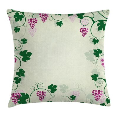 Grape Vines Cushion Pillow Cover Size: 18 x 18
