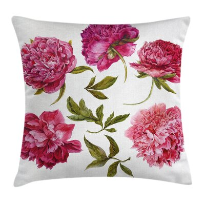 Spring Buds Vivid Tones Cushion Pillow Cover Size: 24 x 24