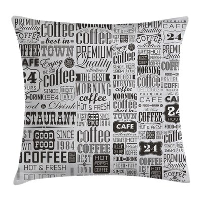 Set of Coffee Labels Square Pillow Cover Size: 18 x 18