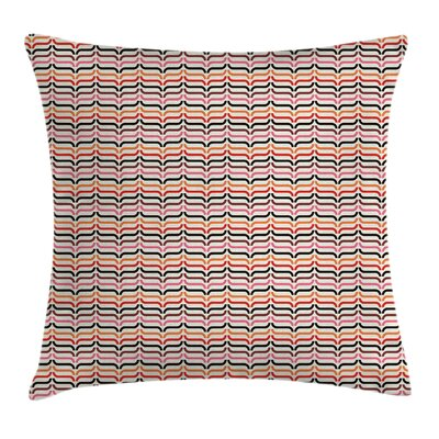Optical Old Fashioned Square Pillow Cover Size: 18 x 18