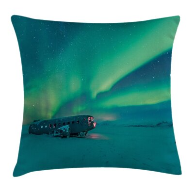 Misty Winter Day View Cushion Pillow Cover Size: 20 x 20