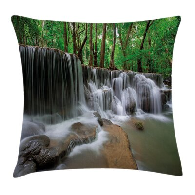 Forest Scenery Cushion Pillow Cover Size: 24 x 24