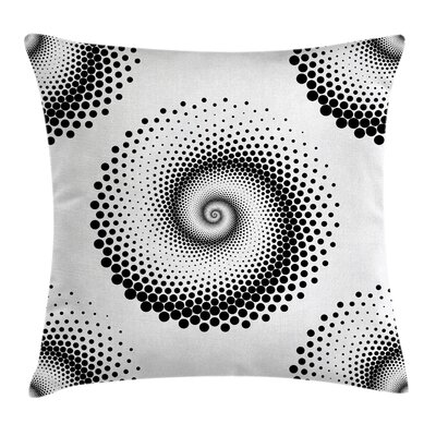 Spiral Dots Pattern Cushion Pillow Cover Size: 24 x 24
