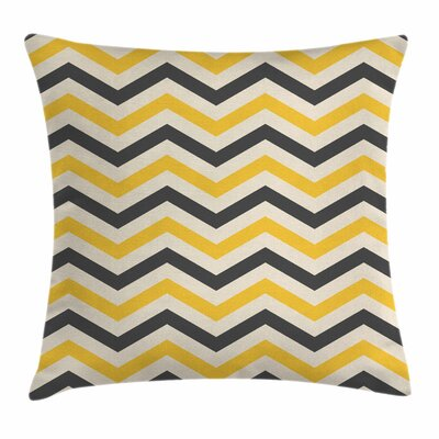 Chevron Large Zigzags Square Cushion Pillow Cover Size: 18 x 18