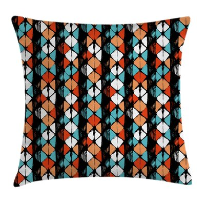 Geometric Graphic Print Pillow Cover with Zipper Size: 24 x 24