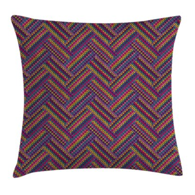 Knit Effect Square Pillow Cover Size: 24 x 24