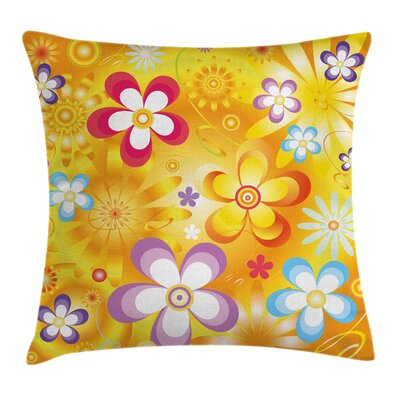 Stain Resistant Floral Square Pillow Cover Size: 18 x 18
