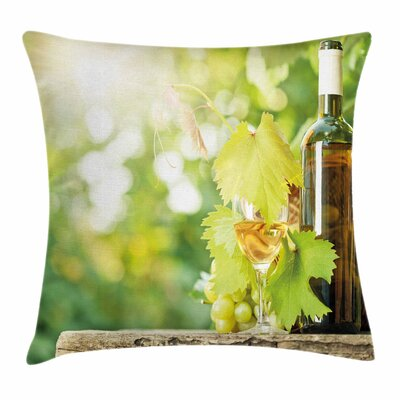 Wine Young Vine Spring Square Pillow Cover Size: 16 x 16
