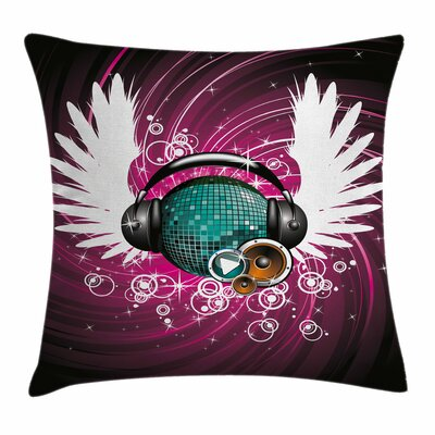 Disco Ball Music Square Pillow Cover Size: 16 x 16