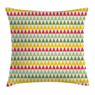 Trianglesful Square Pillow Cover Size: 18 x 18