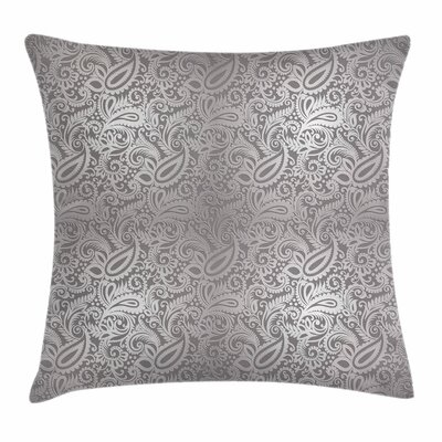 Royal Paisley Pattern Square Cushion Pillow Cover Size: 16 x 16
