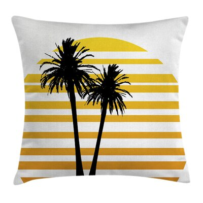 Coconut Palm Trees Cushion Pillow Cover Size: 16 x 16