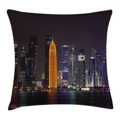 Qatar Middle East Town Square Pillow Cover Size: 24 x 24