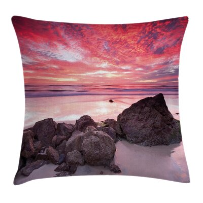 Rock on the Beach Pillow Cover Size: 24 x 24