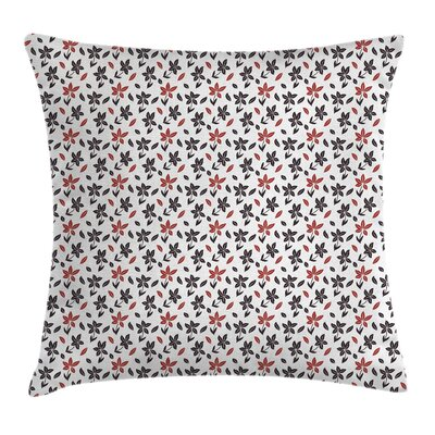 Modern Flowers Cushion Pillow Cover Size: 18 x 18