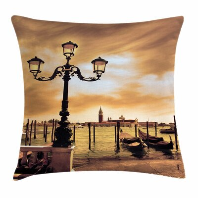 Lagoon Boats Saint Mark Square Pillow Cover Size: 20 x 20