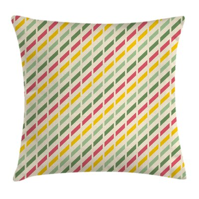 Diagonal Simple Summer Square Pillow Cover Size: 18 x 18