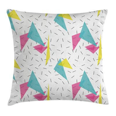 Memphis Style Forms Square Pillow Cover Size: 18 x 18
