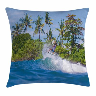 Bali Island Hobby Square Cushion Pillow Cover Size: 16 x 16