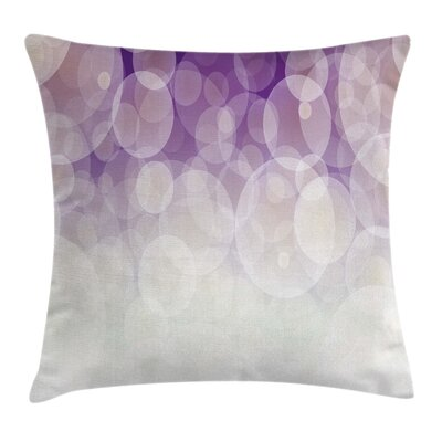 Hazy Circles Digital Cushion Pillow Cover Size: 20 x 20