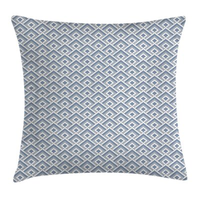 Modern Diagonal Nested Squares Square Pillow Cover Size: 16 x 16