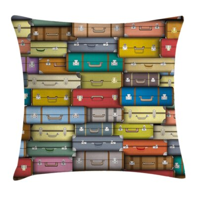 Suitcase Pillow Cover Size: 18 x 18