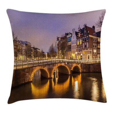 Old Bridge European Square Pillow Cover Size: 16 x 16