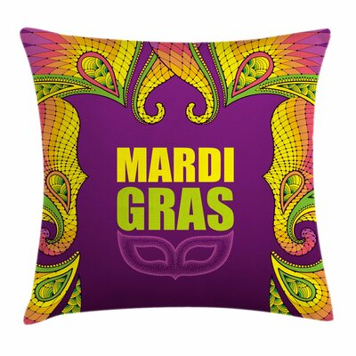 Mardi Gras Lace Like Square Cushion Pillow Cover Size: 24 x 24