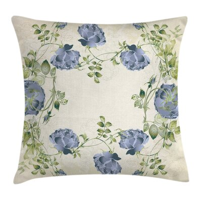 Modern Waterproof Floral Pillow Cover Size: 16 x 16