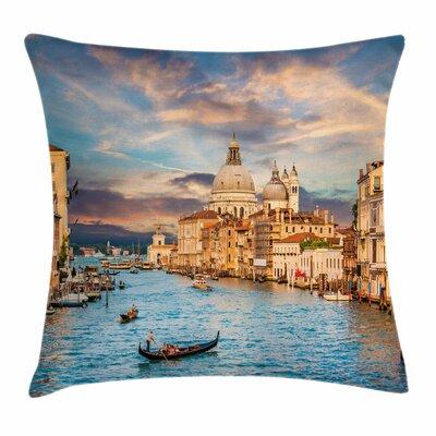 Canal Grande Santa Maria Square Pillow Cover Size: 24 x 24