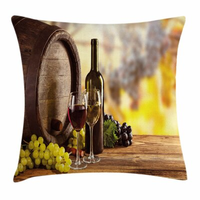 Wine and Wine Taste Square Pillow Cover Size: 18 x 18