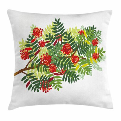 Graphic Tree Leaves Square Pillow Cover Size: 16 x 16