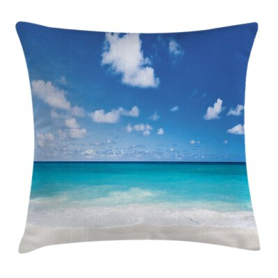 Exotic Caribbean Beach Square Pillow Cover Size: 16 x 16