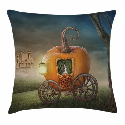 Pumpkin Coach Pillow Cover Size: 24 x 24