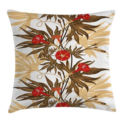 Exotic Climbing Ivy Cushion Pillow Cover Size: 18 x 18